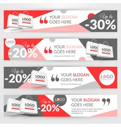 Set with banners for web site for sale vector