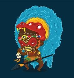 African Tribe Shaman Cartoon Character vector image