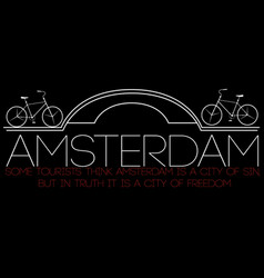 Amsterdam city modern t-shirt typography graphics vector