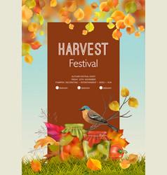 Autumn poster flyer vector