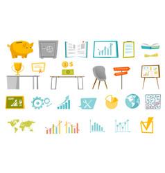 business cartoon set vector image