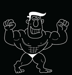 Cartoon strongman vector