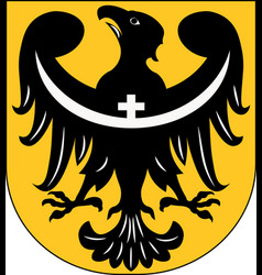 Coat of arms of lower silesian voivodeship in vector