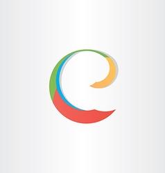 Colorful letter e symbol vector