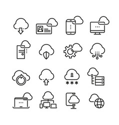computer cloud technology data security access vector image vector image