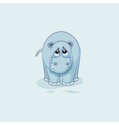 Emoji character cartoon sad and frustrated vector