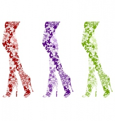 fashion legs vector image