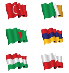 flag set vector image vector image