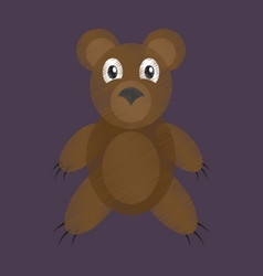 flat shading style icon toy bear vector image vector image