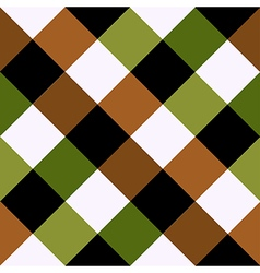 Green brown chess board diamond background vector