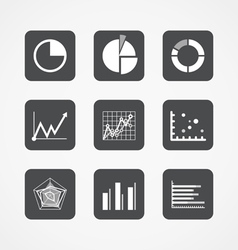 Information chart icons collection vector