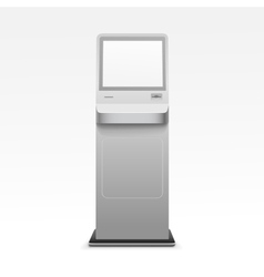Information Display Monitor Terminal Stand vector image