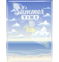 It summer time vector image