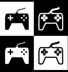 Joystick simple sign black and white vector