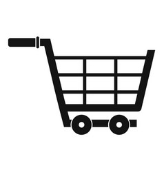 Large shopping trolley icon simple style vector