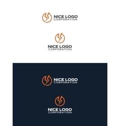 Lightning bolt logo vector