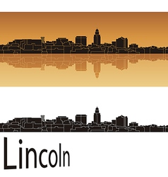 Lincoln skyline vector