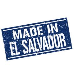 Made in el salvador stamp vector