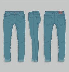 Men jeans vector
