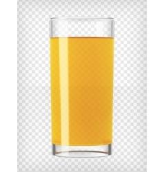 Orange juice in a glass vector