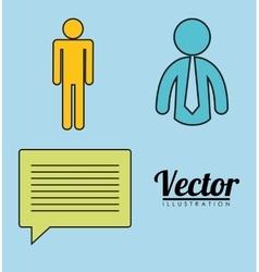 Pictogram necktie communication bubble message vector