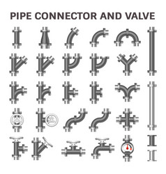 pipe connector vector image vector image