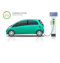 Power supply for electric car charging electric vector