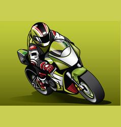 Racer ride sportbike vector