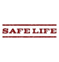 Safe Life Watermark Stamp vector image