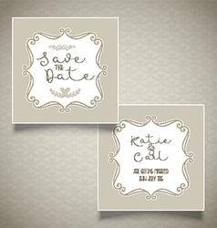 Save the date invitation design vector image vector image