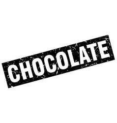square grunge black chocolate stamp vector image vector image