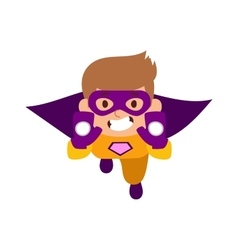Super hero boy cartoon character vector