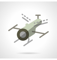 Surveillance drone flat icon vector image