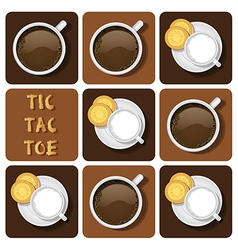 Tic-tac-toe of milk and chocolate vector