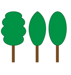 Tree green sign set 206 vector
