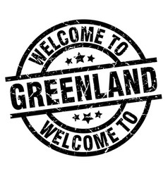 Welcome to greenland black stamp vector