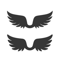 wings icon on white background vector image vector image