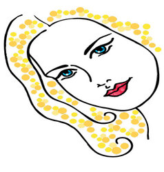 woman face drawing vector image vector image