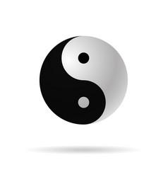 Yin yang 3d icon harmony symbol vector