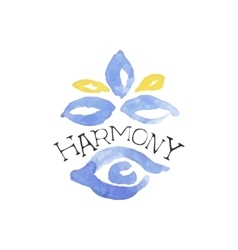 Harmony zen beauty promo sign vector