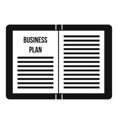 Business strategy plan icon simple style vector image