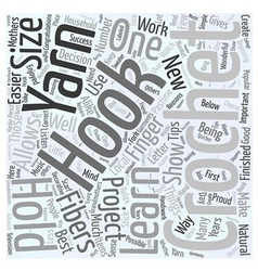 Tips for those beginning to crochet word cloud vector