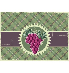Grapes label background vector image
