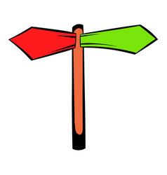 Direction signs icon icon cartoon vector