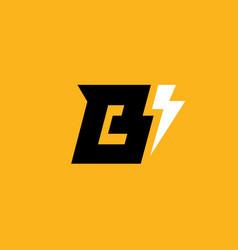 Letter b lightning logo icon design template vector