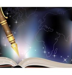 Traveler diary vector