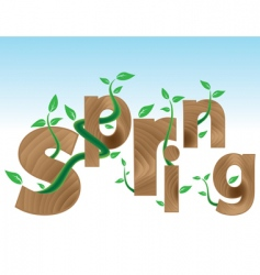 Coming spring vector