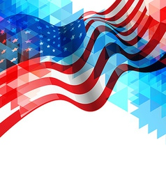 American flag design background vector