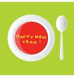 New year soup vector