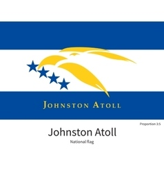 National flag of johnston atoll with correct vector